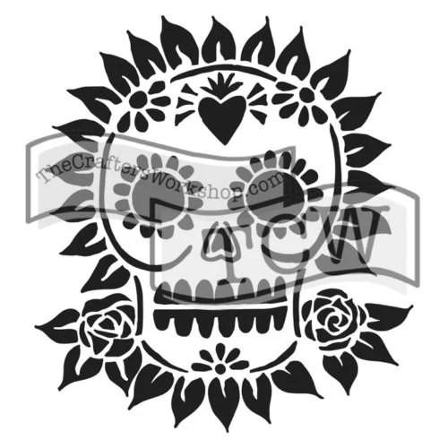 Sugar Skull Stencil: TCW6...