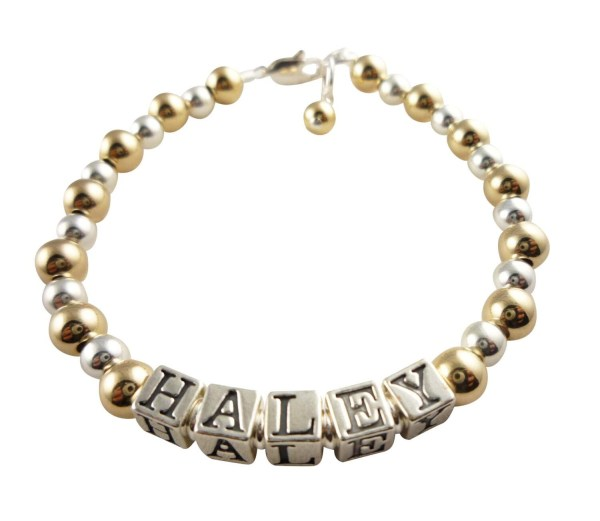 14k Gold And Sterling Silver Bracelet Baby Girls