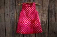 Polka Dots Cotton Dress Flower Girl Summer Dress Rustic