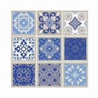 Patchwork Moroccan style Wall Art Digital Mosaic Tile Modern