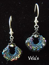 Gypsy Loops E 112 Beaded Earring Jewelry Purple AB seed