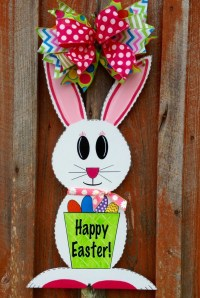 Easter Bunny Door Hanger Spring Decor Front Door Hanger Easter