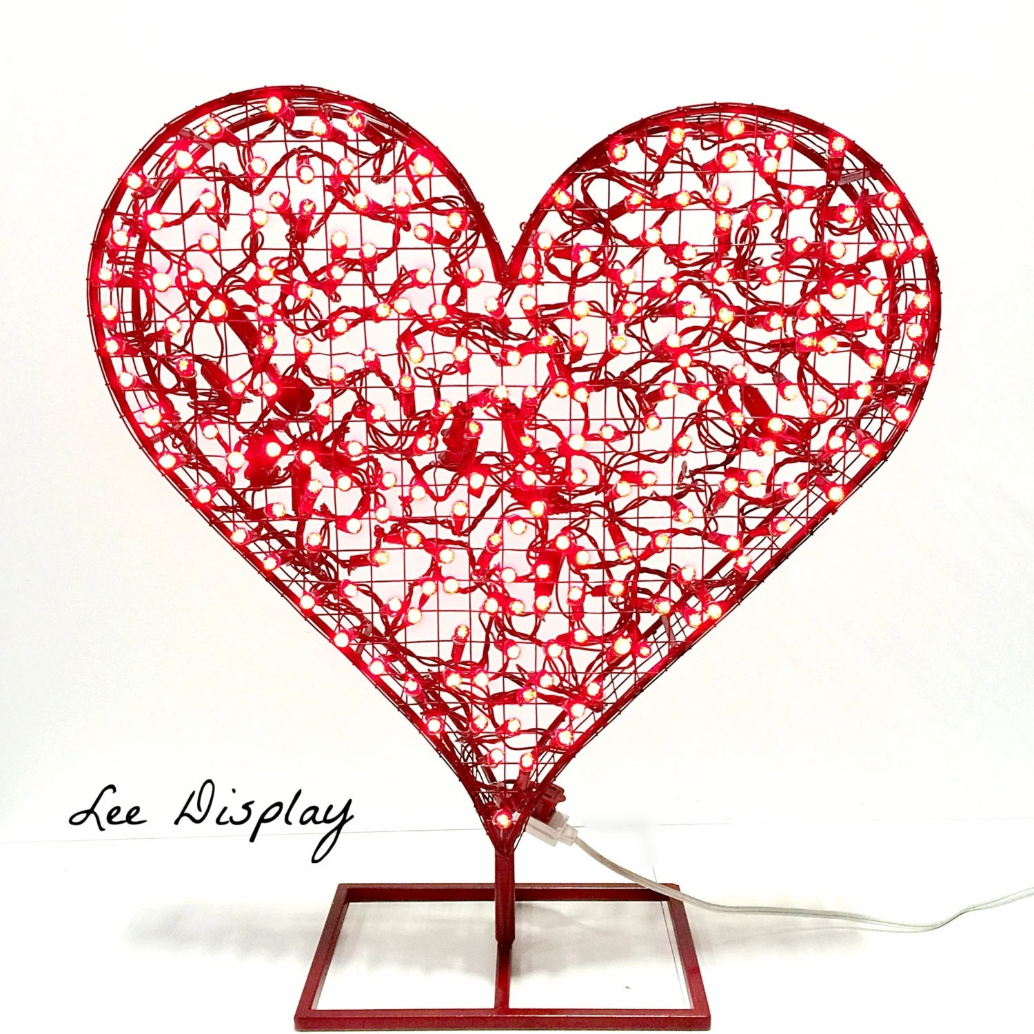 Valentines Day Red Heart 24 Decorative LED