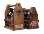 Personalized Growler Wooden Beer Carrier, Ready to Ship Craft Beer Double 64oz Caddy / Labor Day BBQ