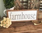 Wooden Framed Farmhouse S...