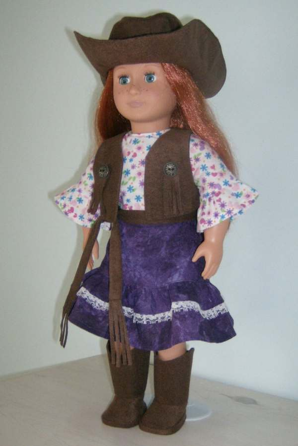Doll Clothes 8 Piece Western Cowgirl Set Fits American