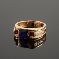 Unique men ring Large ring for men Gold men ring Mens