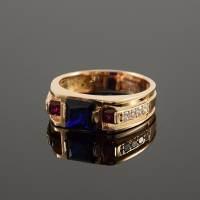 Unique men ring Large ring for men Gold men ring Mens