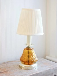 Amber Glass Vintage Table Lamp Vanity Lamp Bedside by ...