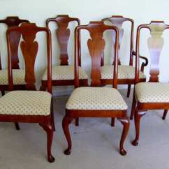 Queen Anne Style Chairs Silver Dining Baker Furniture Set Of 6 From
