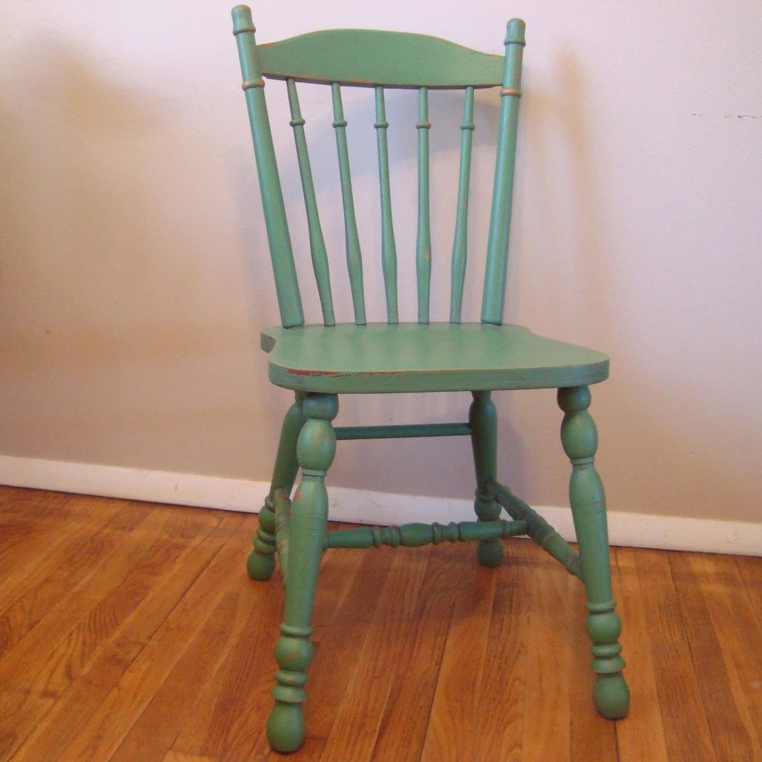 Farm Chairs Custom Painted Distressed Wood Farm Chair Vintage Farmhouse
