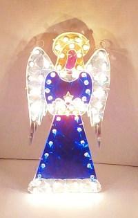 Vintage NOMA Holographic Illuminated Angel Window Decoration