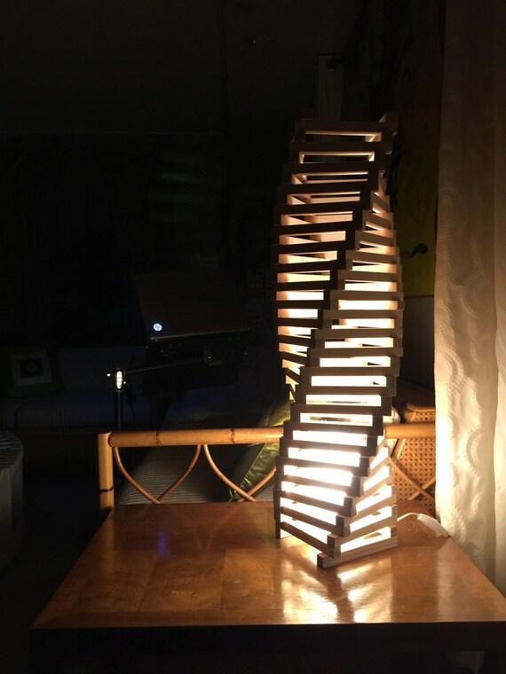 COLUMN TWIST LAMP 32 architect design wood lamp