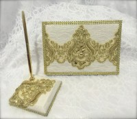 wedding guestbook and pen set guest book wedding signing