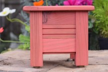 Small Redwood Planter Rustic Style Wooden