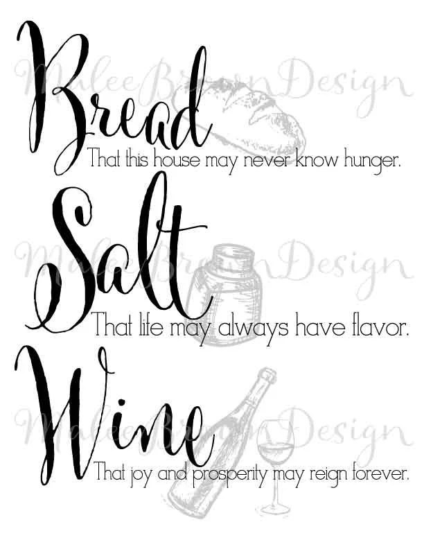 Bread Salt Wine thumbnail is watermarked by MaleeBrownDesign