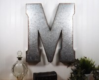 Large Metal Letter/ 20 inch Metal Letter/ Wall Decor ...