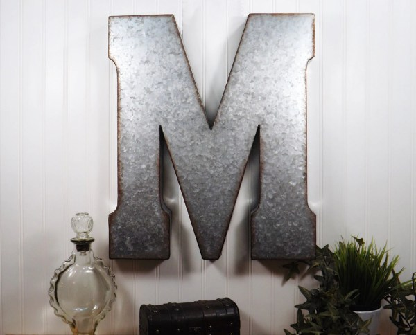 Large Metal Letter 20 Wall Decor