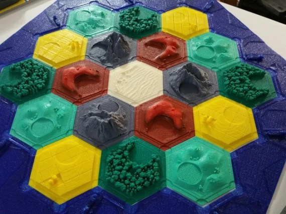 Settlers of Catan 3D Pieces