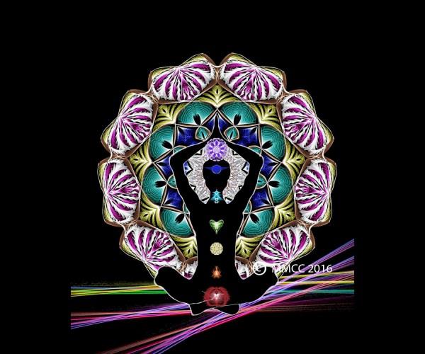 Chakra Art Spiritual Woman In Lotus Printable