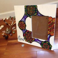 FLOWer of Life Picture Frame ~ Hand-Drawn Fractal Sharpie ...