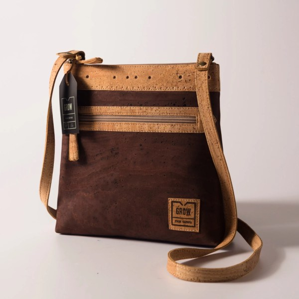 Genuine Cork Leather Crossbody Bag Purse