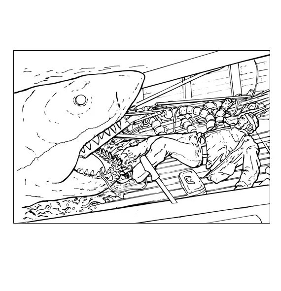 Shark Jaws Adult Coloring Book by BenGardnersBoat on Etsy