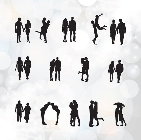 Download Couples svg files Couple in love digital clip art by Linescut
