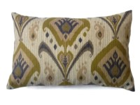 Decorative Lumbar Pillow Cover Olive Green Taupe Brown Same