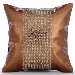 How To Clean Suede Sofa Covers Craigslist Sleeper Copper Throw Pillow 16x16 Sequin Embroidered