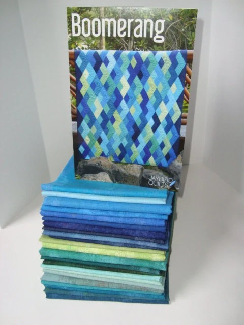 Boomerang quilt KIT from Jaybird quilts with Grunge fabrics