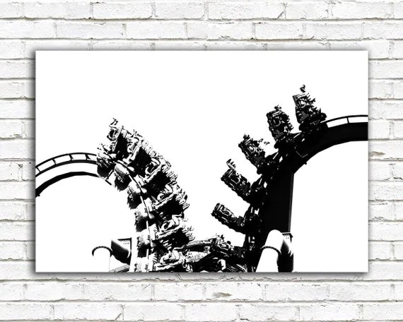 Roller coaster photo black and white Harry Potter Dragon