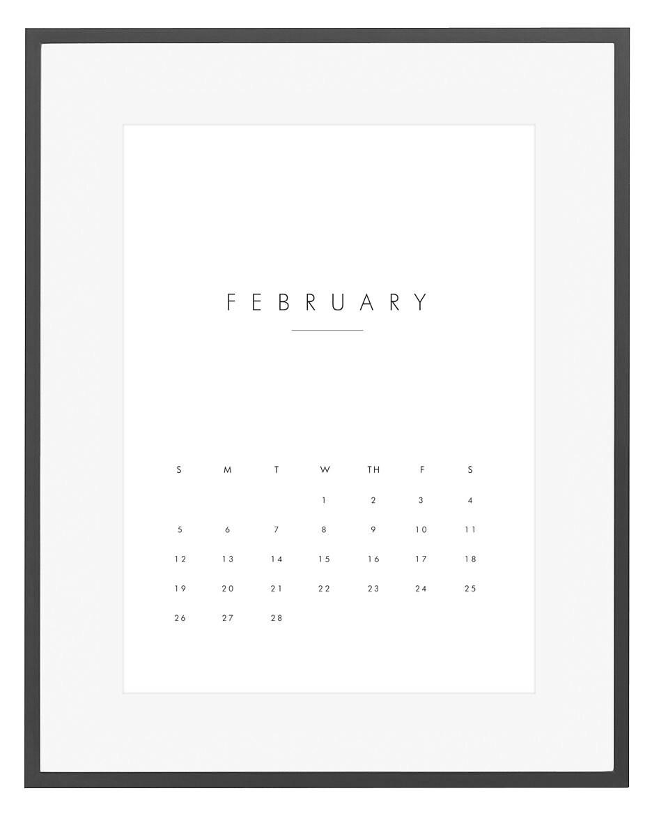2017 Wall Calendar Printable Calendar 2017 Monthly Wall