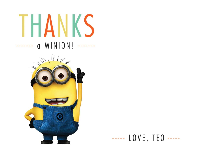 Minion Thank You Card Set