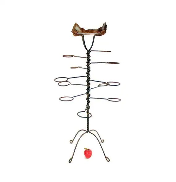 Antique Wrought Iron Plant Stand Spiral Fern Stand