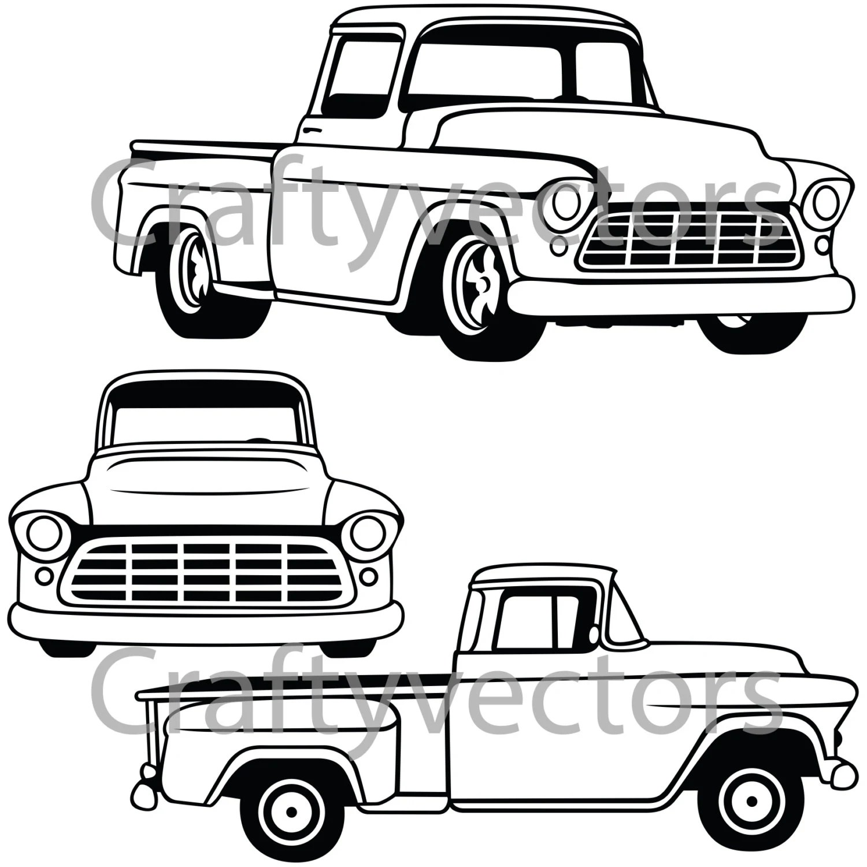 1956 Chevrolet Truck Vector File