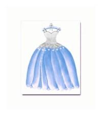 Princess Cinderella Dress Wall Art Princess Decor by ...