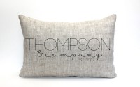 wedding gift family pillow custom pillow name pillow
