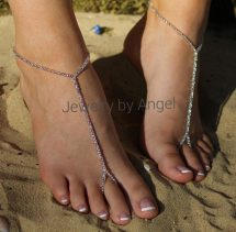 Crystal Barefoot Sandals