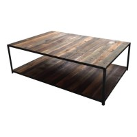 Reclaimed Barn Wood & Steel Coffee Table