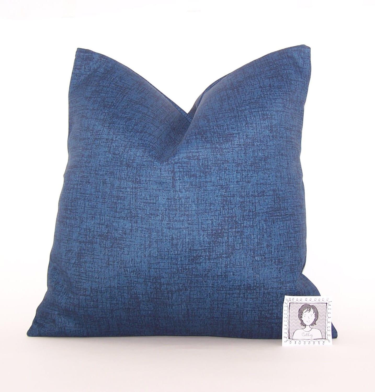 Navy Outdoor Pillow Dark Blue PILLOW Lumbar Various