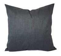 Two Dark Grey Pillow Covers Grey Throw by CastawayCoveDecor