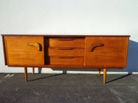 Mid Century Modern Console Danish Style TV Media Dresser