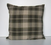 Plaid Flannel Pillow Cover Throw Pillow by APassion4Pillows