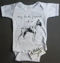 Boxer Baby Clothes Dog Baby Clothes Dog and Baby by EmeeJoCo