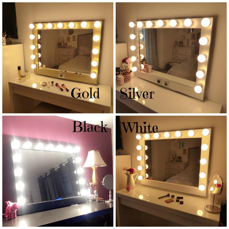 Hollywood lighted vanity mirrorlarge makeup mirror with