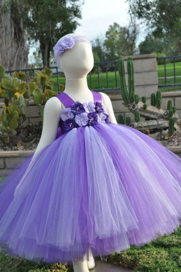 Purple Lavender Flower Girl Dress Toddler