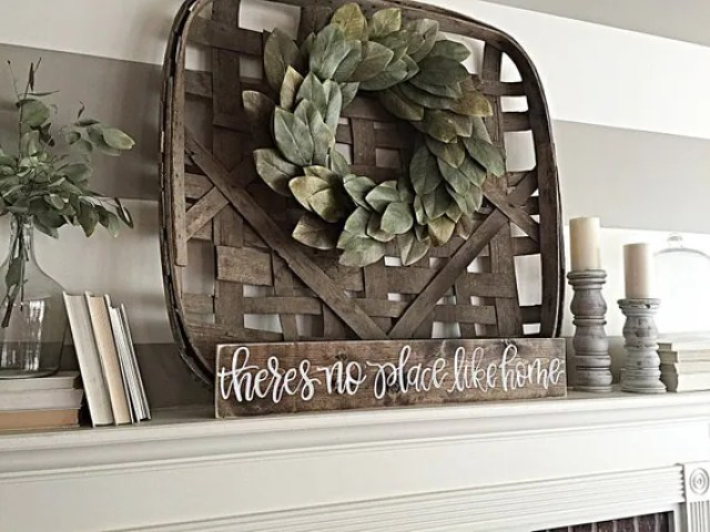 No Place Like Home   Rustic Home Decor   Wood Sign   Hand Painted   Shabby Chic   Mantel Decor