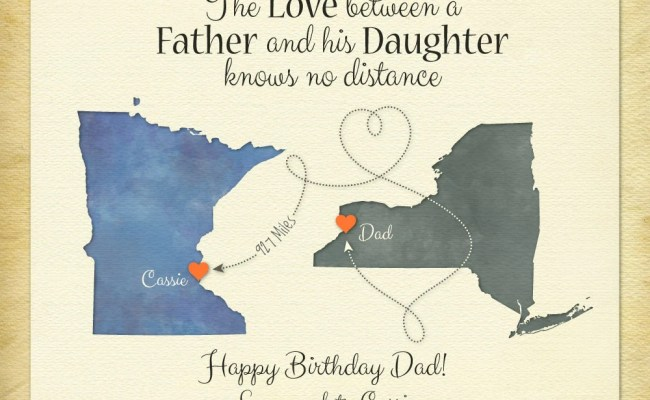 Personalized Gift For Dad Long Distance Present By