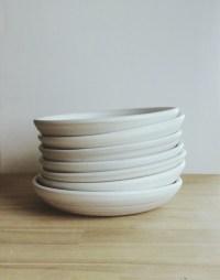 Wheel thrown handmade pasta bowl set of seven by huseyinartik